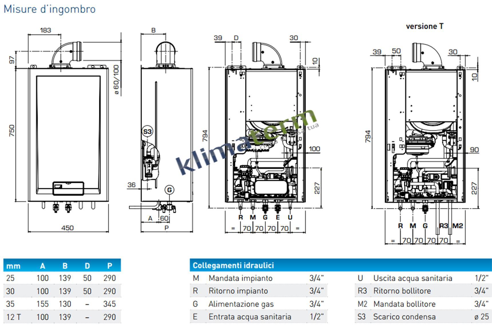 Costo caldaia a condensazione 24 kw installazione for Prezzi caldaie ariel
