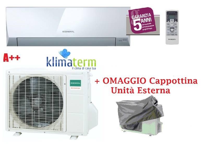 Climatizzatore Condizionatore General Fujitsu ASHG12LLCC+AOHG12LLCC Mono Split Serie LLC 12000 Btu Classe A++ CAPPOTTINA UNITA