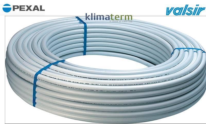 Tubo multistrato 26 x2.0 PVC sanitario in rotoli da 50 mt - Pexal By Valsir