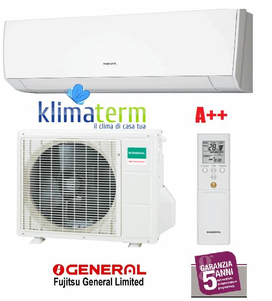 Climatizzatore Condizionatore General Fujitsu ASHG12LMCA +AOHG12LMCA Mono Split Serie LM 12000 Btu Classe A++