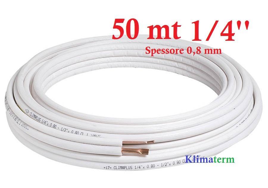 Tubo Rame Climatizzazione Rotolo 50 mt 1/4