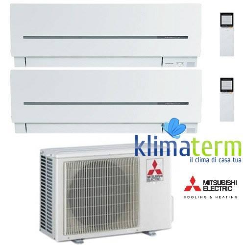 Climatizzatore Condizionatore Mitsubishi MSZ-SF Dual Split Inverter 9000 + 9000 BTU con U.E. MXZ-2D42VA Classe A++/A+