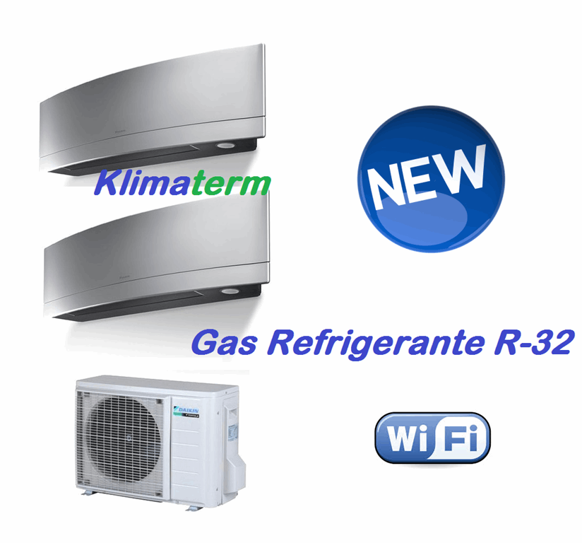 Climatizzatore Condizionatore Dual Split 7+7 2MXM40M Serie Emura FTXJ A+++/A++ Silver Wi-fi Gas R-32 - BLUEVOLUTION - Ultimo modello!!