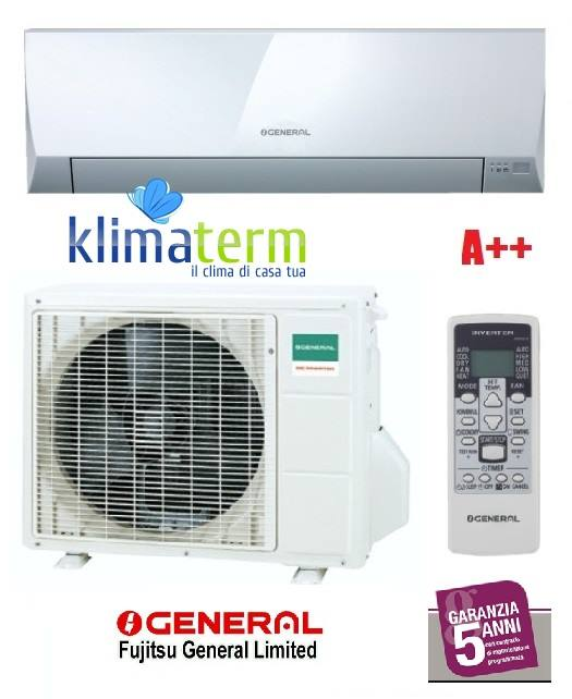 Climatizzatore Condizionatore General Fujitsu ASHG09LLCC+AOHG09LLCC Mono Split Serie LLC 9000 Btu Classe A++