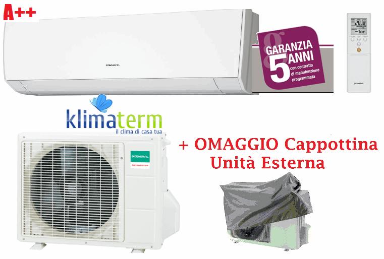 Climatizzatore Condizionatore General Fujitsu ASHG12LMCA +AOHG12LMCA Mono Split Serie LM 12000 Btu Classe A++ OMAGGIO CAPPOTTINA UNITA