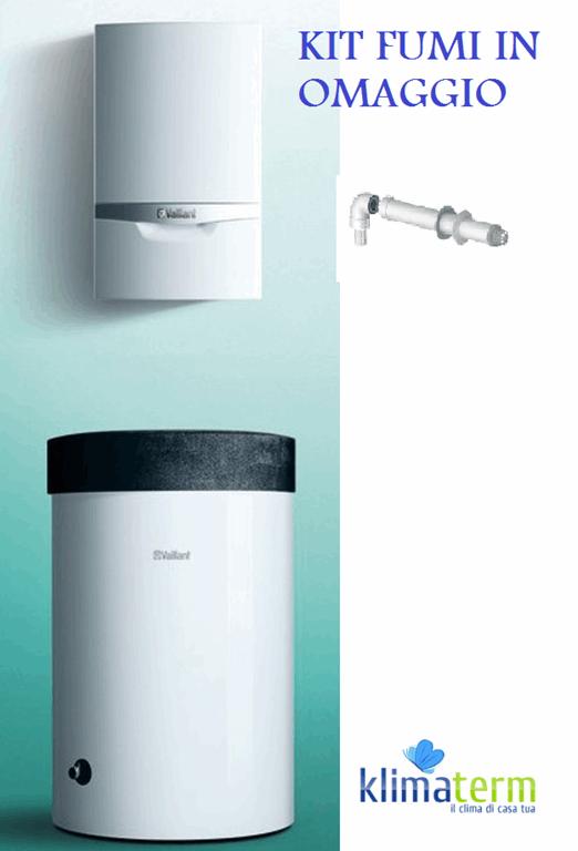 Caldaia a Condensazione Ecotec Exclusive VM 336/5-7 33KW Solo Riscaldamento da interno Nuova Tecnologia ERP Green IQ completa kit scarico fumi