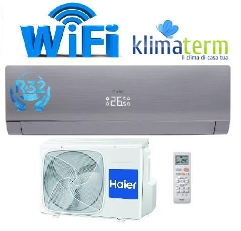 Climatizzatore Condizionatore Inverter modello NEBULA GREEN 9000 BTU Grigio Grey A+++ WiFi Gas R-32 - AS25S2SN3FA NUOVA SERIE!!!