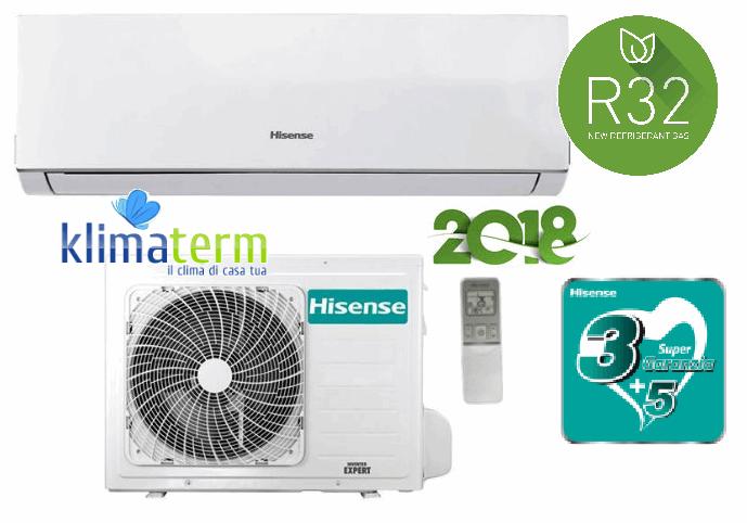 Climatizzatore Condizionatore Hisense NEW COMFORT Gas R32 9000 btu Monosplit DJ25VE0AG Inverter Classe A++ Modello 2018 WIFI Optional CON ALETTE INTERNE ORIENTABILI CON TELECOMANDO!!!!