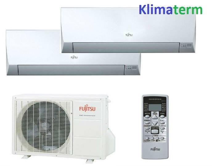 Climatizzatore Condizionatore Fujitsu Dual Split inverter serie LM 9+9 U.E.18000 btu Classe A++ ATTENZIONE-NON E