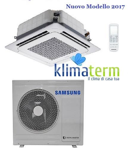 Climatizzatore Condizionatore Samsung LINEA COMMERCIALE Mini Cassetta 4 vie 24000 BTU AC071MNNDKH INVERTER classe A+/A NUOVI MODELLI 2017