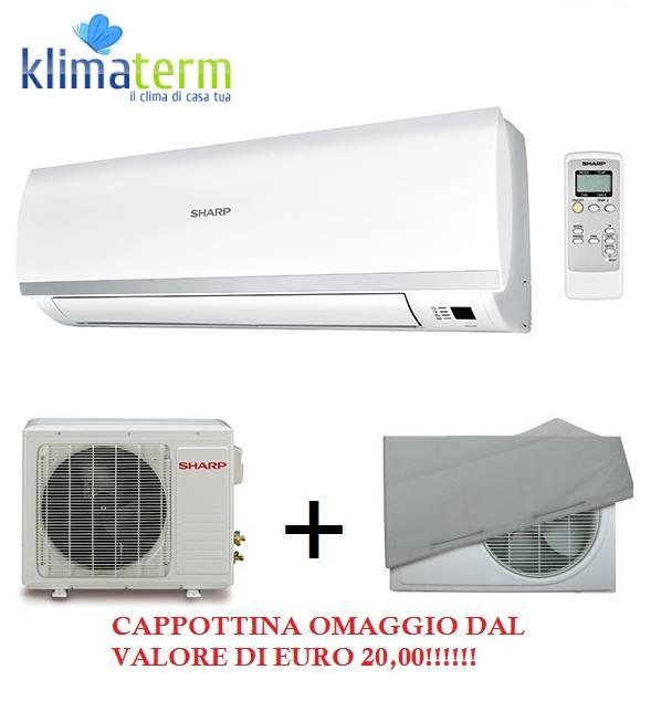 Climatizzatore Condizionatore Sharp  Monosplit Inverter serie RSR 12000BTU - Cappottina omaggio