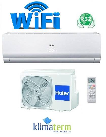 Climatizzatore Condizionatore Haier Inverter modello NEBULA GREEN 12000 BTU WiFi A+++ Gas R-32 - NUOVA SERIE!!!