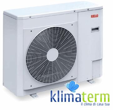 Pompa di Calore Inverter Riello ad alto rendimento aria-acqua monoblocco Nexpolar 006 ME Classe A++ Codice 20099253 Monofase