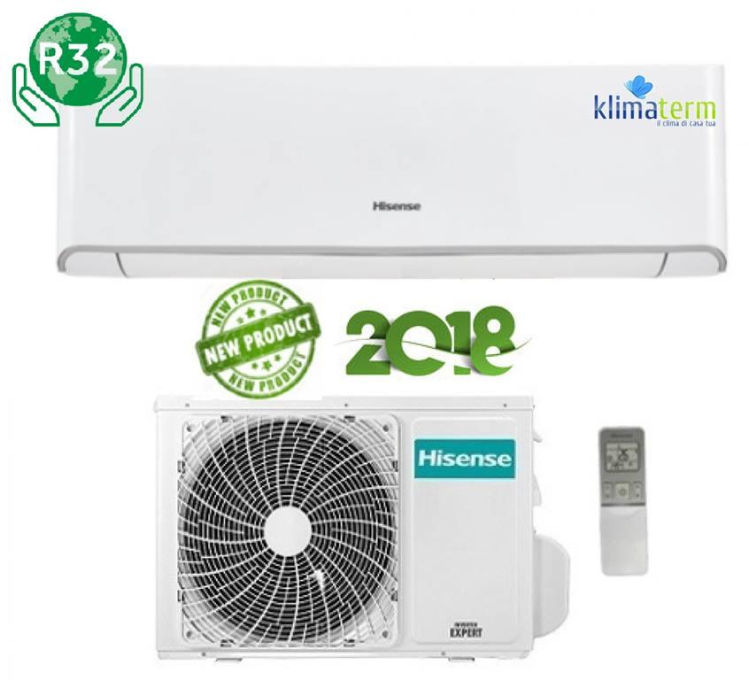 Climatizzatore Condizionatore Hisense serie NEW COMFORT Gas R32 9000 btu Monosplit DJ25VE00G Inverter Classe A++ Nuovo Modello 2018 WIFI Optional