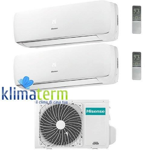 Climatizzatore Condizionatore Mini Apple Pie Serie 3 Dual Split Inverter 9+9 con U.E. AMW2-20U4SZD1 Classe A++/A+