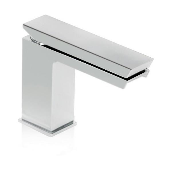 Serie Mini Razor Miscelatore monocomando lavabo con bocca aperta a cascata e scarico CLICK-CLACK.