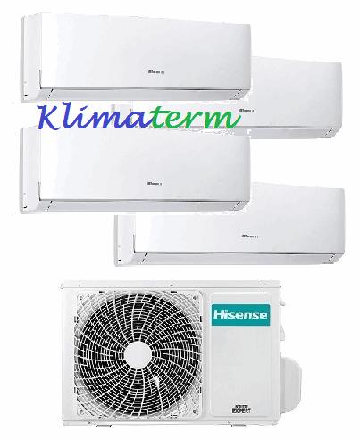 Climatizzatore Condizionatore Hisense NEW COMFORT 9+9+9+9 Quadri Split Inverter Classe A++ con esterna 4AMW81U4SAD1 CON ALETTE INTERNE ORIENTABILI CON TELECOMANDO!!!!
