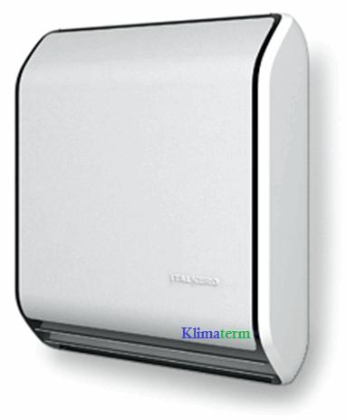 Stufa a gas Italkero modello Stratos 9.0 tiraggio forzato + kit fumi metano/gpl colore Silver