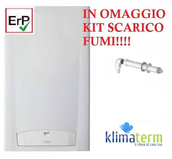 Caldaia a Condensazione KON E C35 Low Nox 35KW Metano nuova tecnologia ERP + kit scarico fumi in OMAGGIO