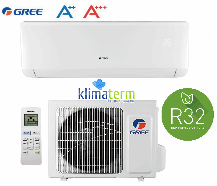 Climatizzatore Condizionatore Gree by Argo serie BORA 9000 btu Classe A+++ Gas R32 Inverter Codice GWH09AAB-K6DNA1A