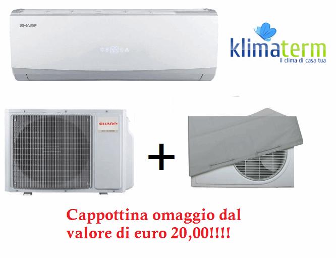 Climatizzatore Condizionatore Sharp  Monosplit Inverter serie SSR SMILE CURVE 9000BTU - Cappottina omaggio