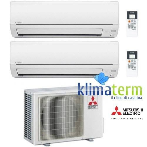 Climatizzatore Condizionatore Mitsubishi MSZ-DM Dual Split Inverter 9000 + 9000 BTU con U.E. MXZ-2DM40VA Classe A++/A+