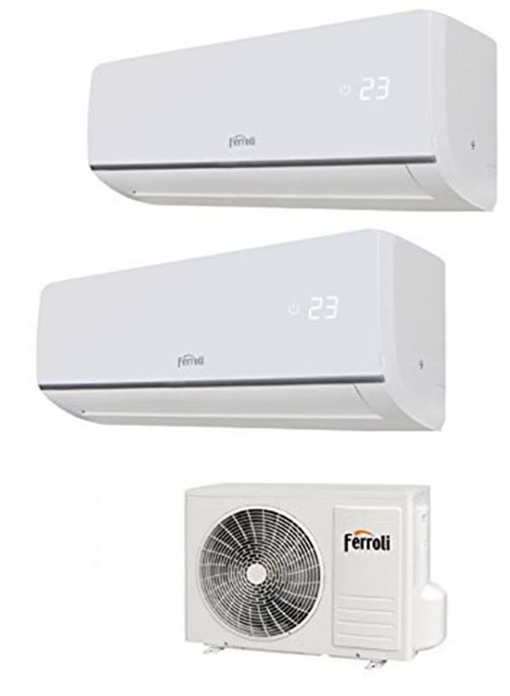 Climatizzatore Condizionatore Ferroli ASTER-M DUAL 7+12 btu inverter ultimo modello