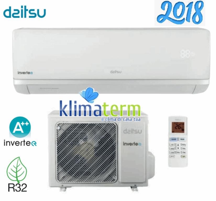 Climatizzatore Daitsu Air Monosplit 9000 btu Serie ASD9KI-DC Classe A++ Gas R32  Wi-fi OPZIONALE Modello 2018